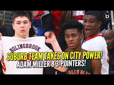 Can Suburban Team Beat City Power?! Super Soph Adam Miller 30 Points!