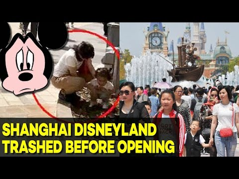 Tourists DESTROY Shanghai Disneyland Grounds Before It Even