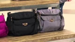 Travelon Pleated Flopover Bag with Sandra Bennett