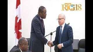 Signature d'un accord entre l'Ambassade du Canada en Haiti et le Ministère de la Planification