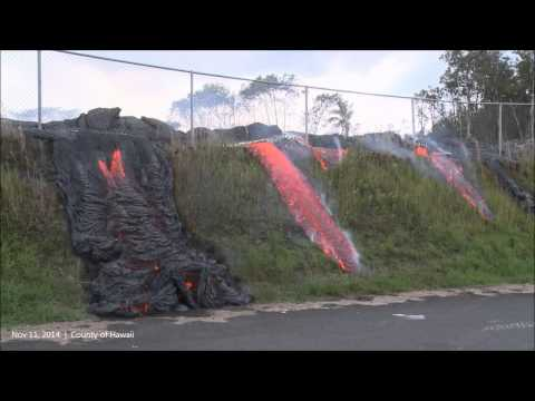 Nov 11, 2014   Hawaii Kilauea Volcano Lava Advancement Continues in Pahoa