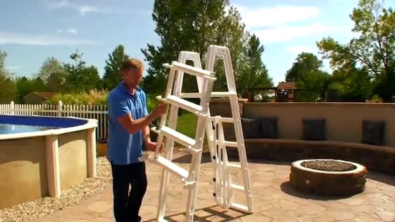 Ocean Blue - A-Frame Ladder - YouTube