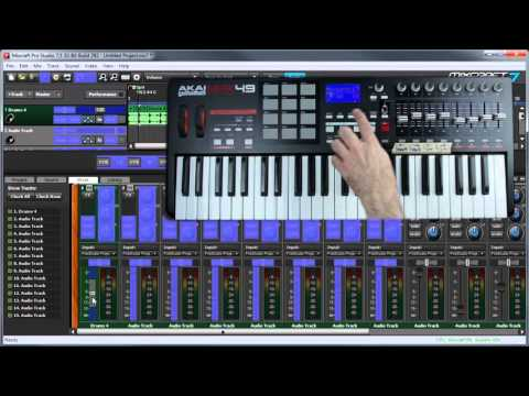 Mixcraft 7 Control Surfaces: Using MIDI Transport and Fader Controllers