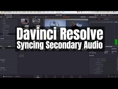 Davinci Resolve - Syncing Secondary Audio