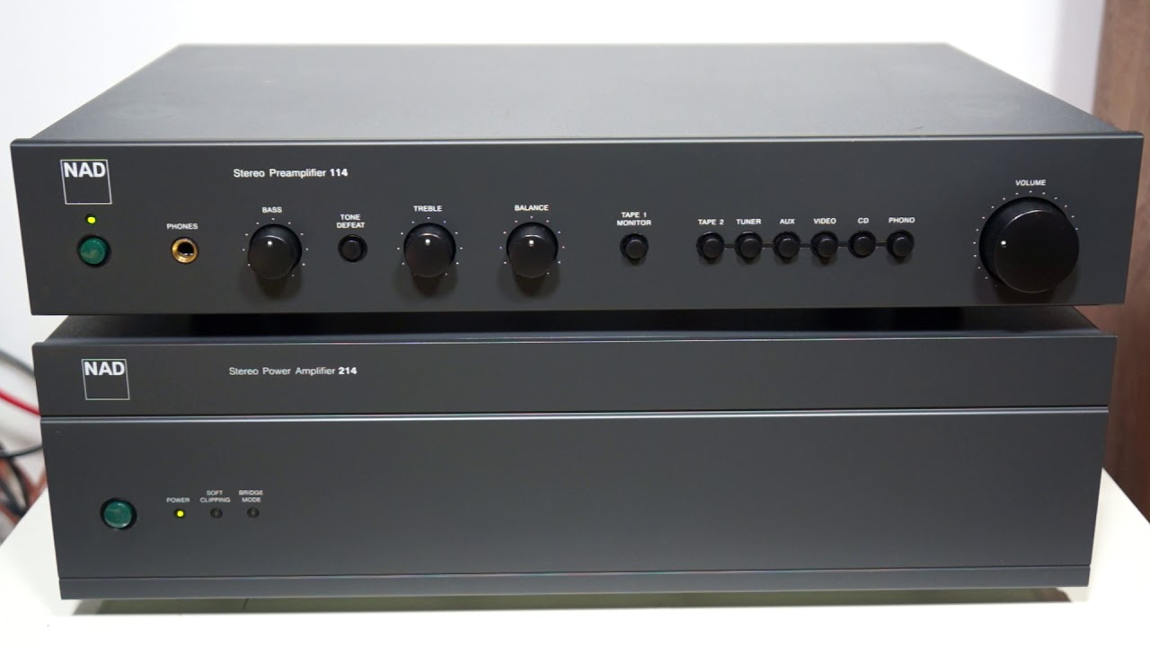 NAD 114 Stereo Preamplifier & NAD 214 Stereo Power Amplifier
