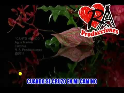 Canto Herido - Agua Marina - KARAOKE