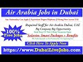 Air Arabia Jobs in Dubai | Airlines Jobs in Dubai