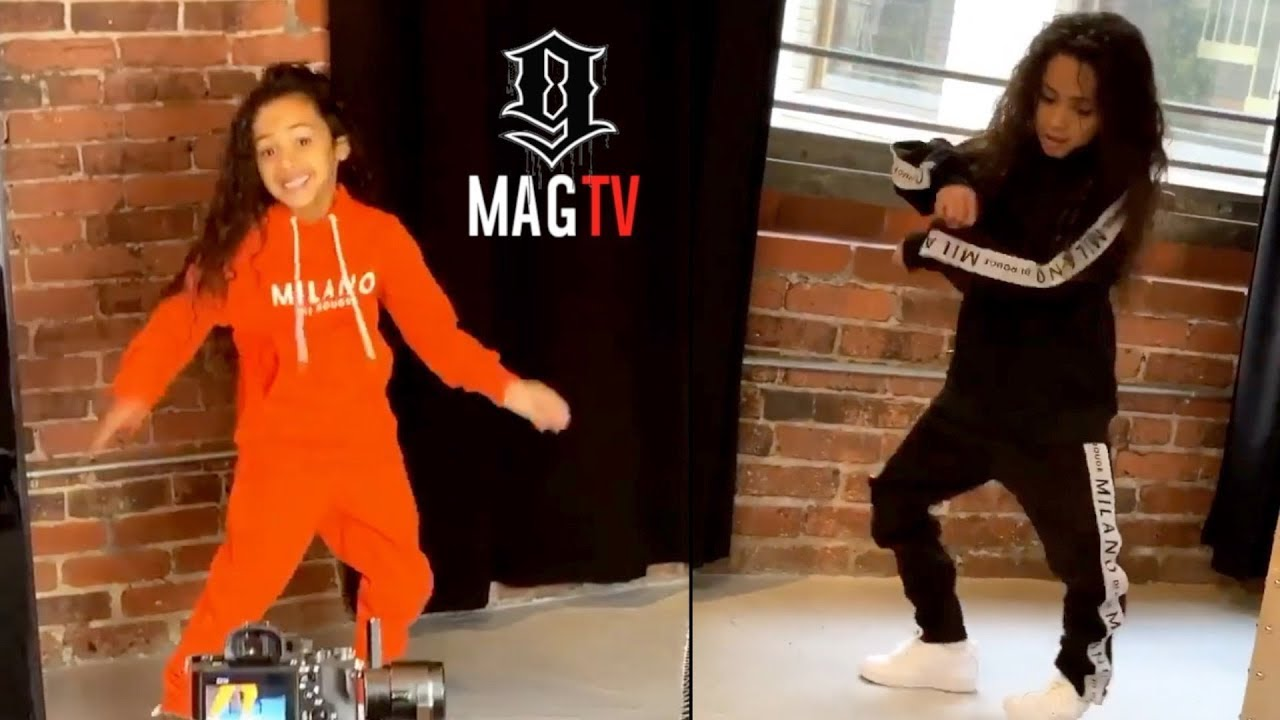 Chris Brown Daughter Royalty Dances Like Daddy At Milano Di Rouge Photoshoot! ??