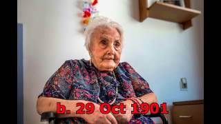 Top Ten Oldest Living People (January 2017)