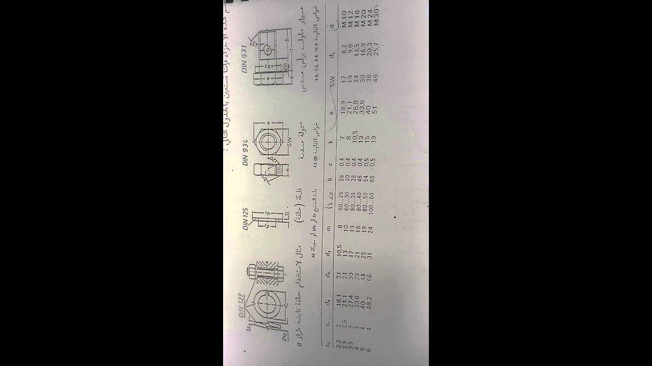 ce5ff311a جدول المقاسات الاسمية لوصلات الربط المقلوظة - YouTube