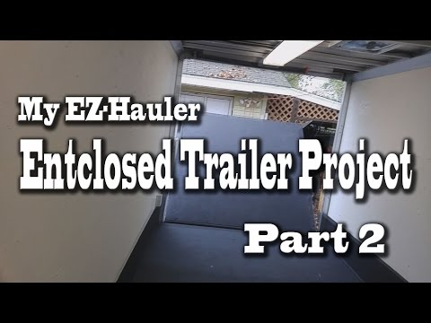 EZ-Hauler 7x16 Enclosed Trailer Paint and Bed Liner Project - Part 2