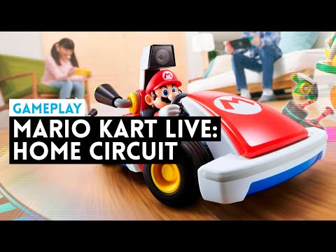 Gameplay MARIO KART LIVE: HOME CIRCUIT (Switch) Mario Kart en el MUNDO REAL