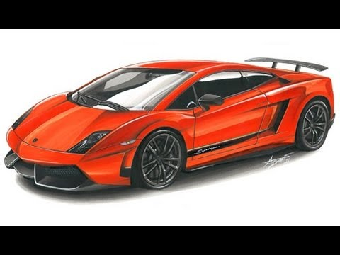 Lamborghini Lp570 4 Drawing By Adonis Alcici Youtube