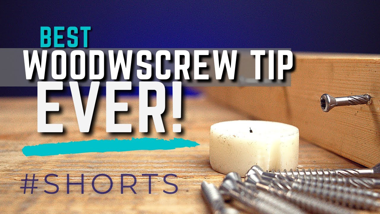 Quick tip for effortless screw driving #SHORTS | Lubricate screws