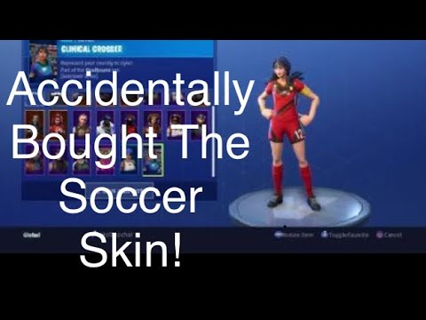 Fortnite ACCIDENTALLY BOUGHT THE SOCCER SKIN (new Channel - FunRun505)