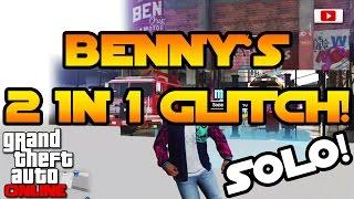 GTA 5 Online - Benny's 2 In 1 Fun Glitch! [SOLO, Fun Glitch, PlayStation 4, Xbox One, PC]