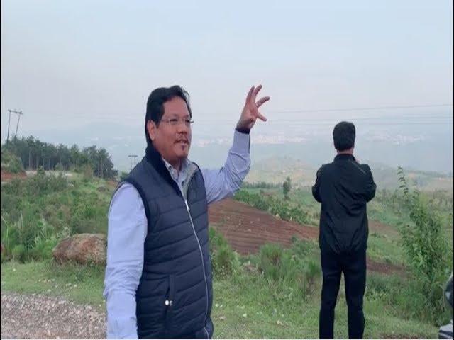 Meghalaya CM Conrad K Sangma inspected the Road from Mawmaram-Mawlyndep-Lad Umsaw