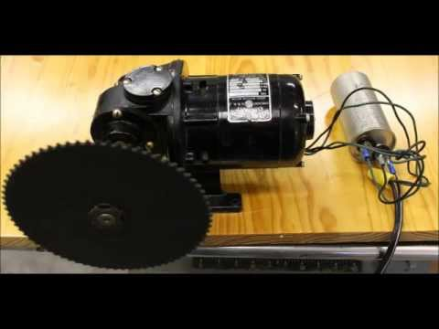 bodine electric company motor with gearbox and sprockets youtube rh youtube com