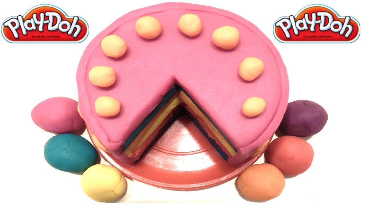 как сделать из пластилина торт