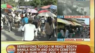 UB: Serbisyong Totoo-I M Ready booth sa Manila North & South Cemetery sa Oct. 31 at Nov. 1
