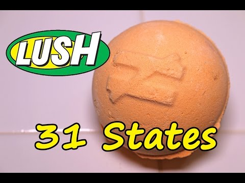 LUSH - 31 STATES Bath Bomb - DEMO - Underwater - REVIEW - SLOW MOTION