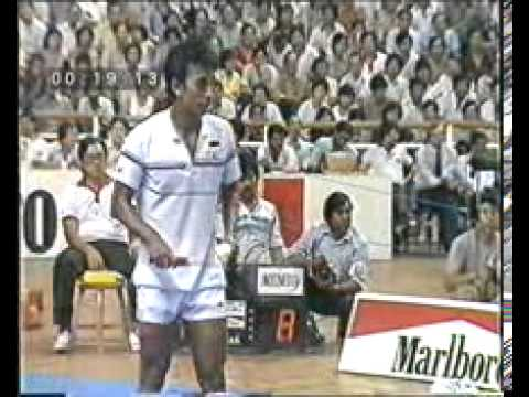 1984 Badminton Thomas Cup Final Yang Yang 杨阳 Vs Icuk Sugiarto Youtube