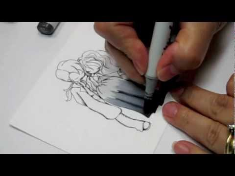 Copic Coloring:  Creating the Illusion of Drapes and Folds