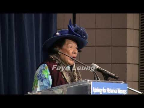 Famous Hat Lady Speaks:  B.C. Government Apology To Chinese  (Overseas Chinese History)