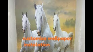 Customize wallpaper installation , how to paste wallpaper