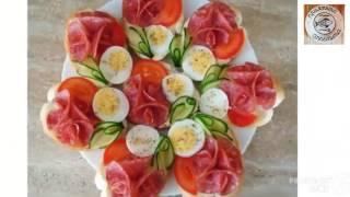 Как красиво #нарезать мясо и рыбу.Оформить красиво #закуску.