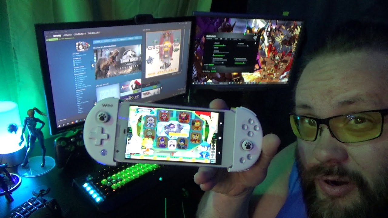 Wee Android Game Controller with Steam Link Playing Street Fighter V