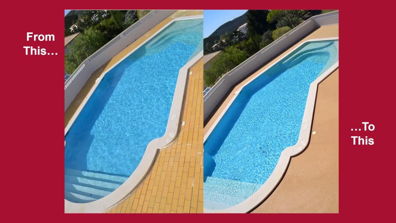 Resin Bound Paving Swimming Pool Surround Installation