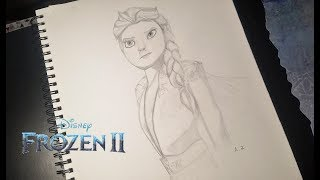 Frozen 2 Elsa Drawing