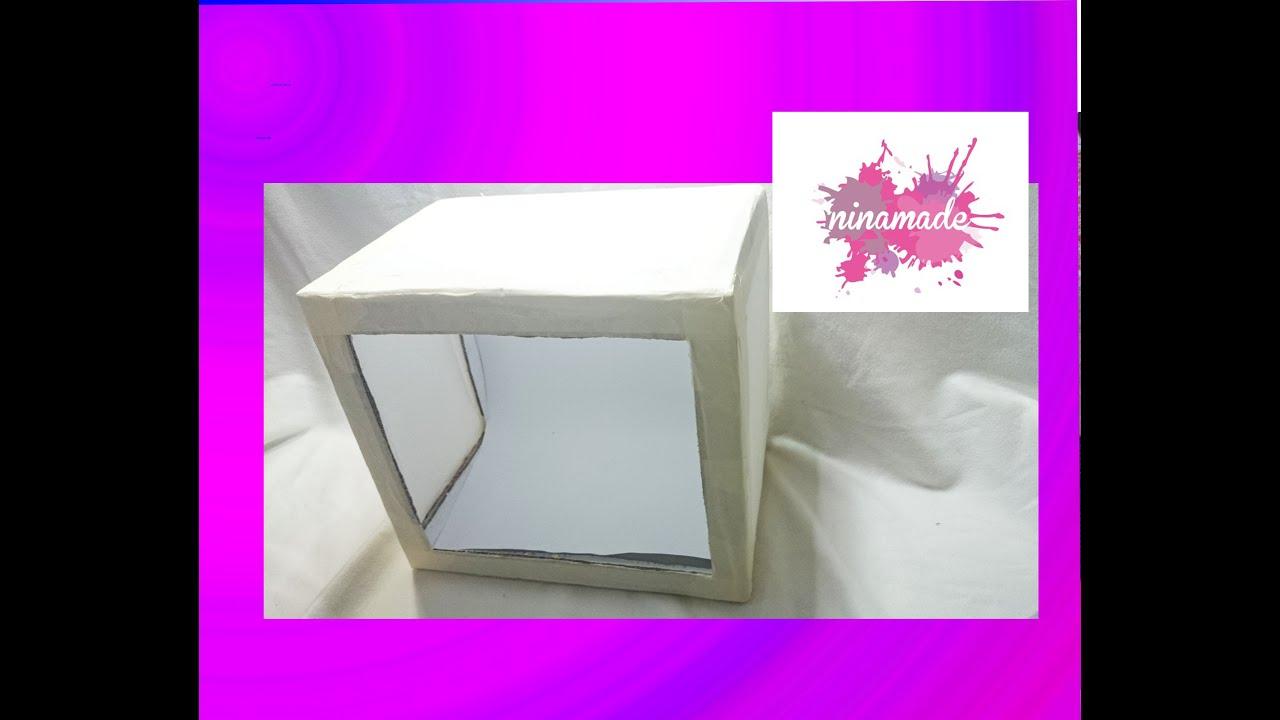 Diy como hacer una caja de luz con materiales reciclados - Como forrar una caja con tela ...