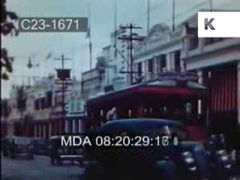 Early 1950s Jamaica - Kingston Streets, Hope Gardens, Buskers, Rio Grande