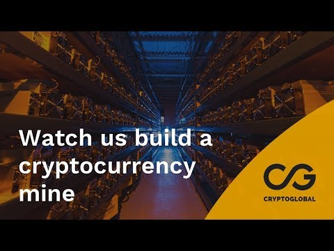 Watch us build a cryptocurrency mine.  Time lapse video.