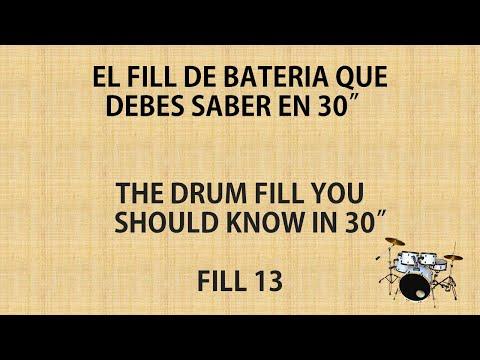 CLASES DE BATERÍA EN 30″ // DRUM LESSONS IN 30″ – FILL 13