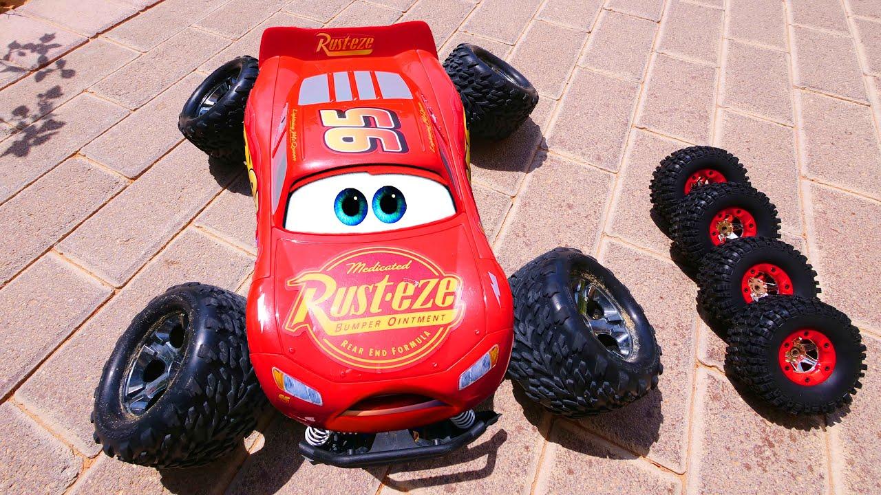 سيارات ديزني - حفار ، حفار ، المطافئ ، ألعاب البرق⚡️ ماكوين⚡️ للأطفال - عجلات ساخنة ,مربى الوحش
