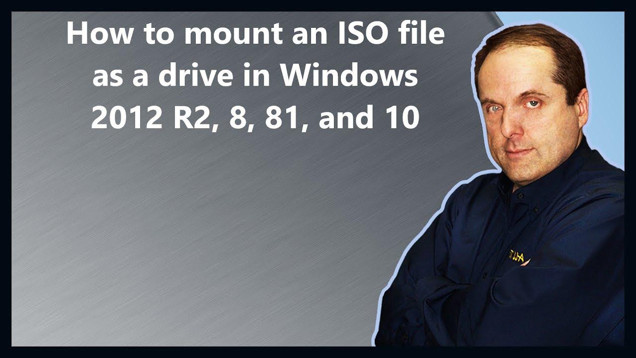 open iso file server 2008 r2