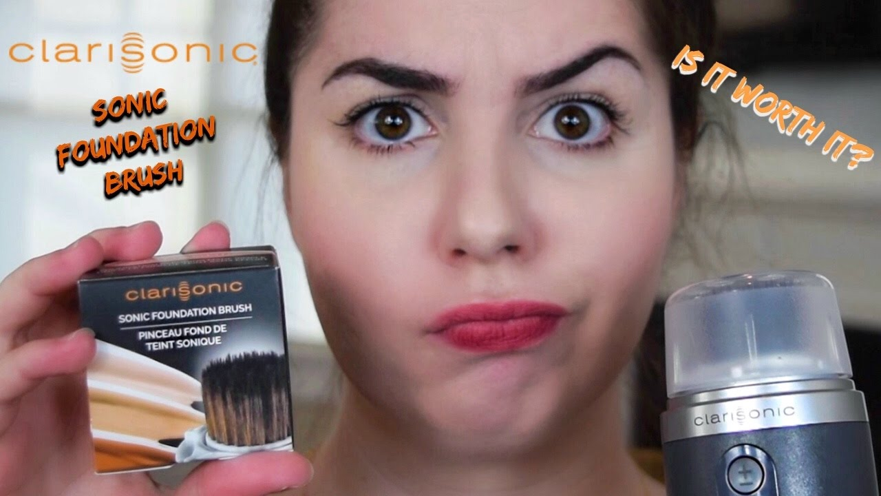 Product Review Clarisonic Sonic Foundation Brush Youtube
