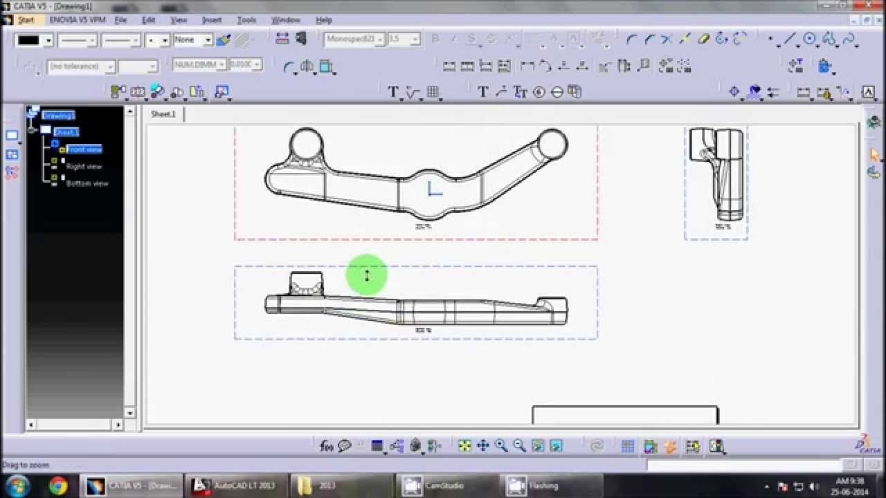 catia v5 drafting |Drafting Wo...