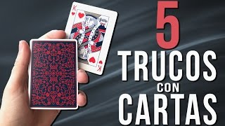 TOP 5 TRUCOS de Magia con Cartas FÁCILES Y VISUALES | Tutorial Aprender Magia Revelado