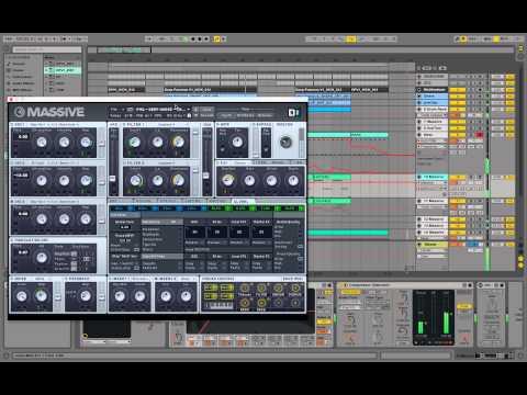 Playthrough: Massive Deep House Electronica Sound Design in Ableton Tutorial Future Kiasmos Synth
