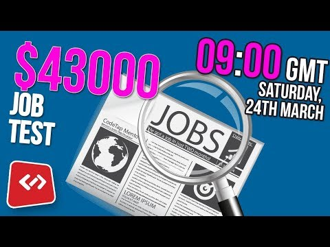 Junior Web Developer job test £115 or $160 per day coding interview test - part 1
