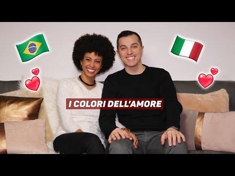 COPPIE MISTE IN ITALIA 💖I COLORI DELL'AMORE   INNAMORATI DAL BRASILE 🇧🇷ALL'ITALIA 🇮🇹