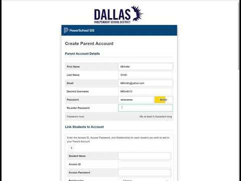 Creating a Parent Portal Account
