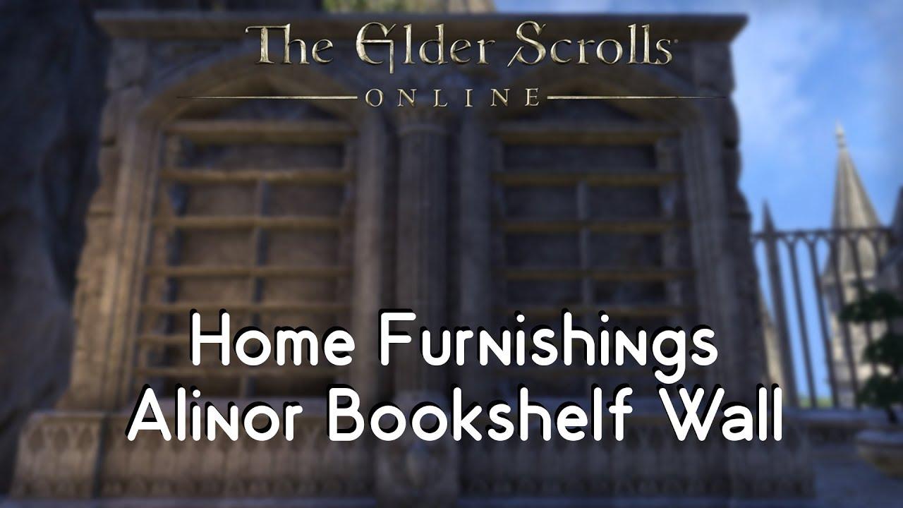 ESO Home Furnishings   Alinor Bookshelf Wall Timeworn
