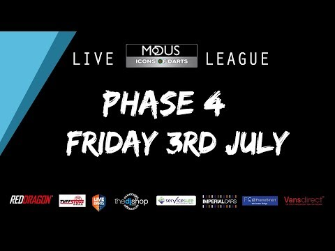 The MODUS ICONS OF DARTS LIVE LEAGUE - FRIDAY 3RD JULY