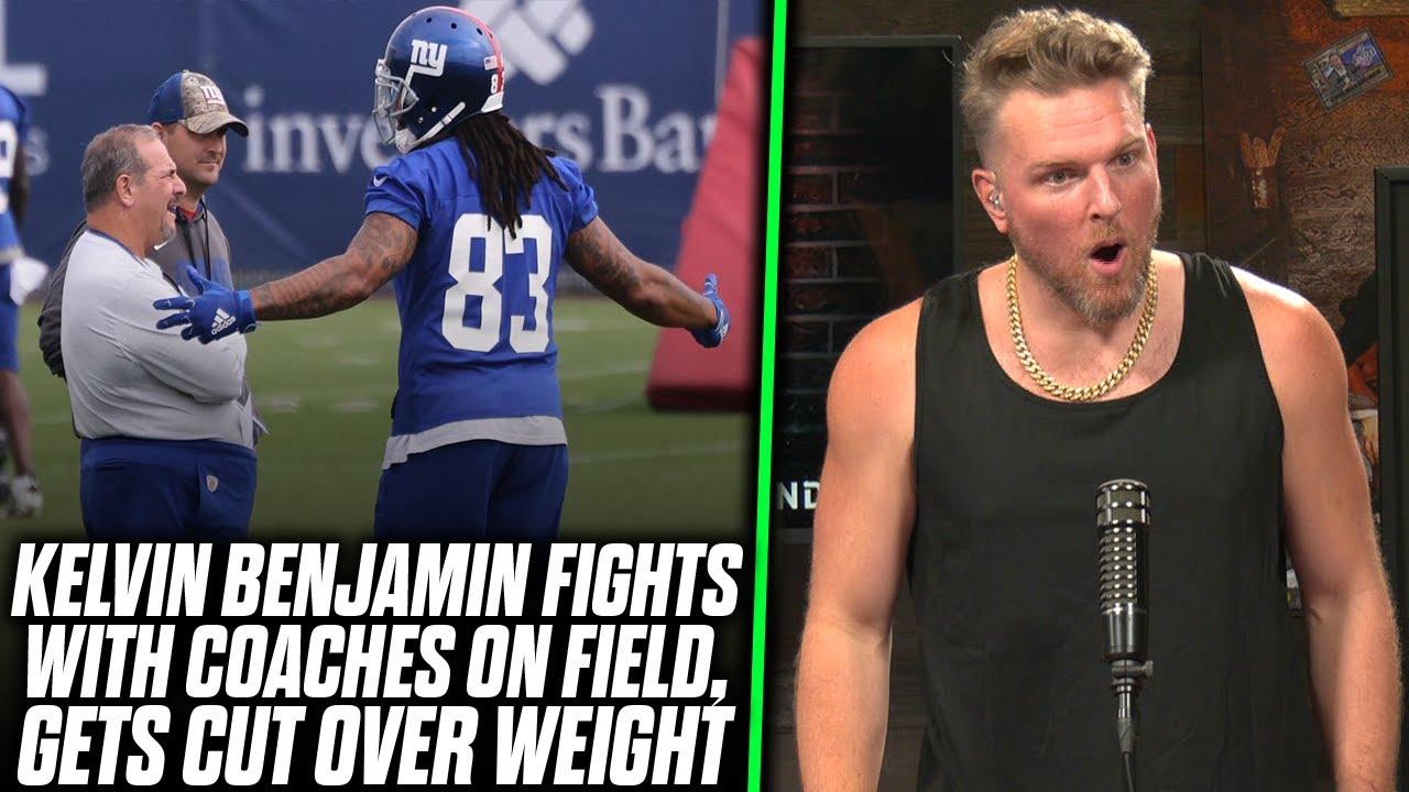 Pat McAfee Reacts: Giants Cut Kelvin Benjamin Over Weight Gain