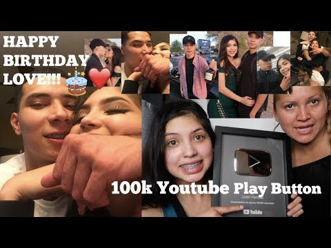 HAPPY BIRTHDAY TO MY BABY LOVE + UNBOXING MY 100,000 YOUTUBE PLAY BUTTON...THANK YOU GUYS SO MUCH!!!
